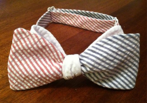 Ellis G Designs American Seersucker Bow Tie