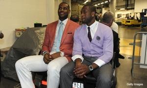 LeBron James Salmon Jacket Dwyane Wade Purple Cardigan