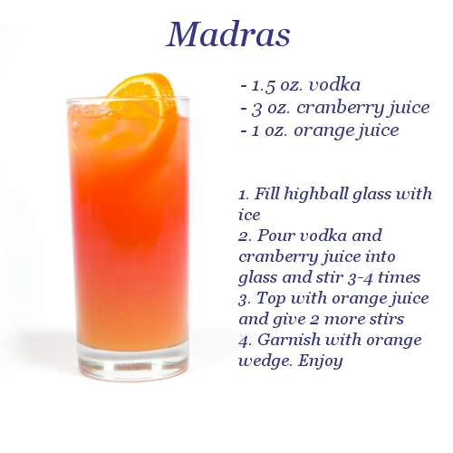 Madras drink ingredients for Best alcohol to mix with cranberry juice