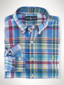 Polo Ralph Lauren Custom-Fit Beach Madras Shirt