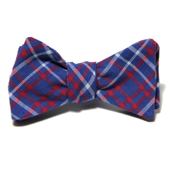 Starboard Clothing Red White and Blue Plaid Bow Tie