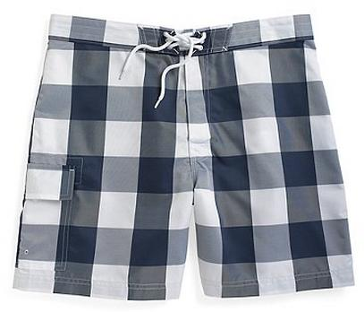 Brooks Brothers Gingham Board Shorts