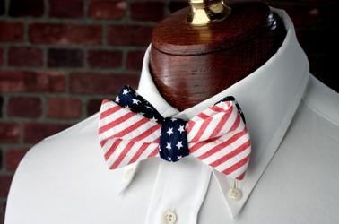 High Cotton Ties Stars & Stripes Reversible Bow Tie