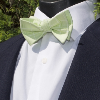Luxley and Bernard Green Squares Bow Tie