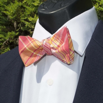 Luxley and Bernard Southern Sunset Madras Bow Tie