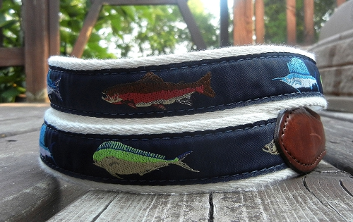 YRI Sporting Gamefish Ribbon Belt