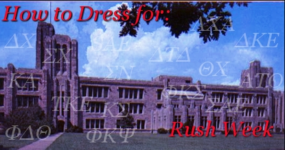 How to Dress for Rush Week Banner
