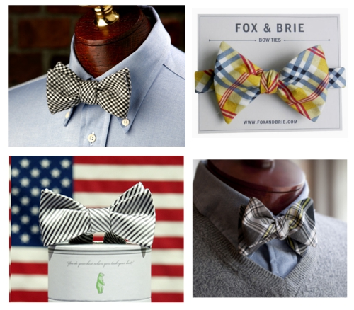 Bow Tie Collage High Cotton Ties Fox & Brie Collared Greens Cordial Churchman