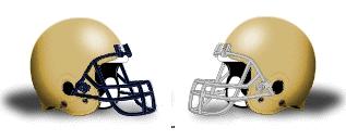 Navy Notre Dame Football Helmets