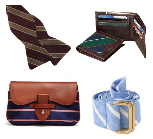 Repp Stripes Brooks Brothers Clutch Pulpit Supply Bow Tie Orvis Wallet Sid Mashburn Belt