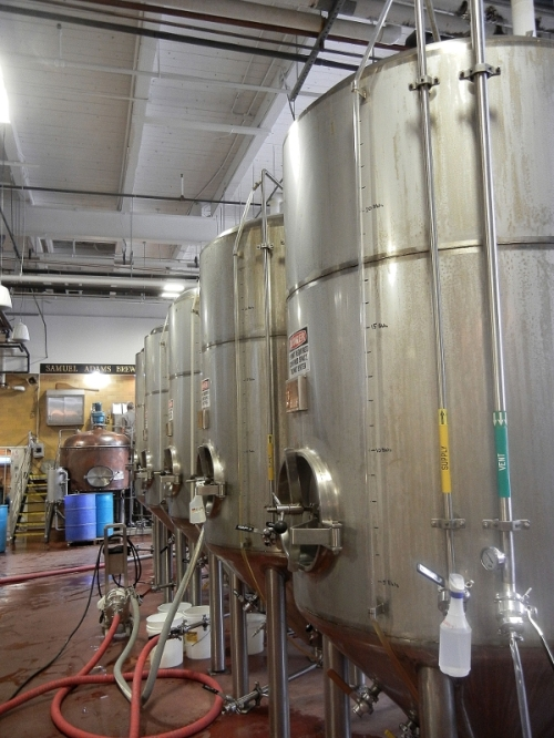 Samuel Adams Beer Tanks