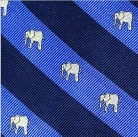 Southern Proper Elephant Repp Stripe Gent Tie