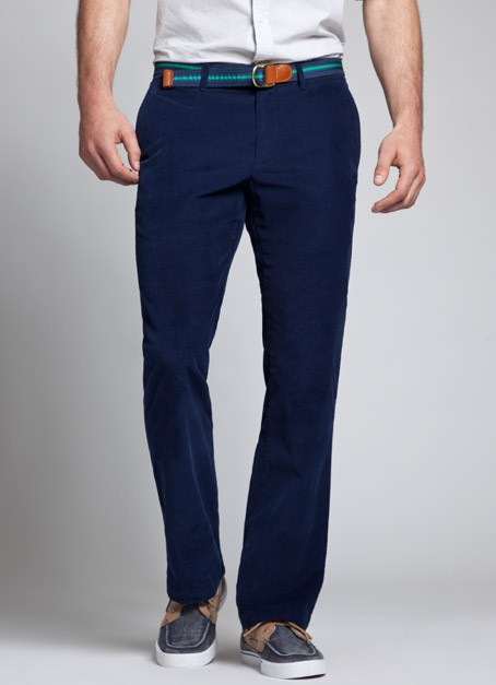 Bonobos Navy Trains Lightweight Corduroy Pinwale Pants