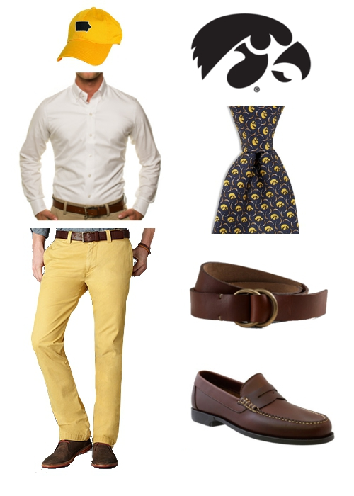 How to Dress for Iowa-Iowa State Game State Traditions Ledbury Dockers Vineyard Vines L.L.Bean Signature G.H. Bass Hawkeyes