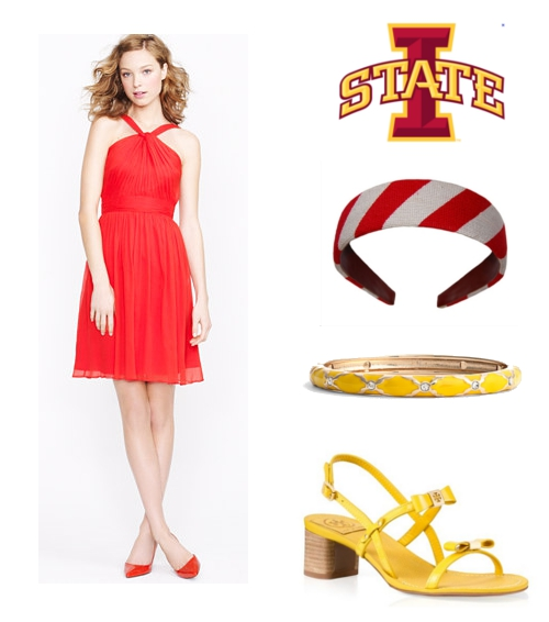 How to Dress for Iowa State Cyclones Game J.Crew Smathers & Branson Sequin Tory Burch