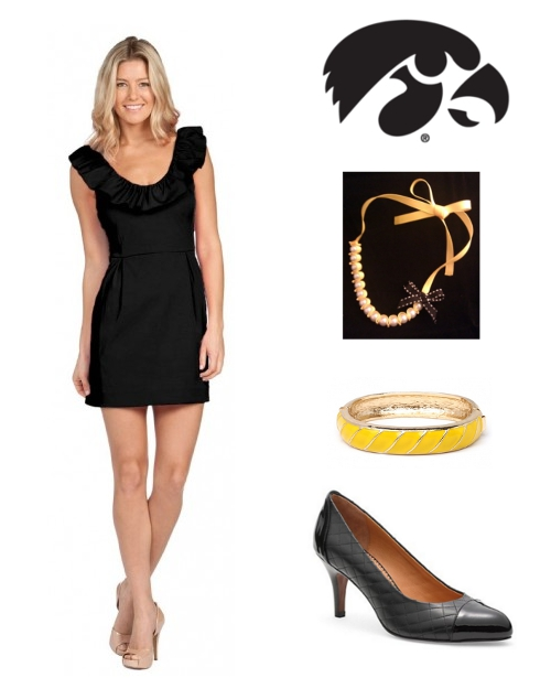 How to Dress for Iowa Football Game Hawkeyes Emma Graham Gameday Girls Bauble Bar Brooks Brothers