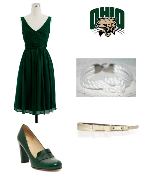 How to Dress for Battle for the Bell Ohio Bobcats J.Crew Lemon and Line Tory Burch Kate Spade