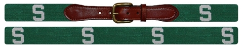 Smathers and Branson Michigan State Needlepoint Belt